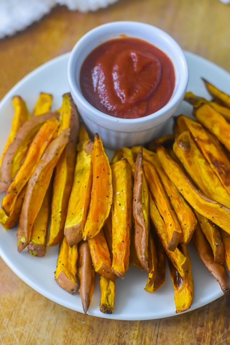 Baked Sweet Potato Fries Dash Of Jazz