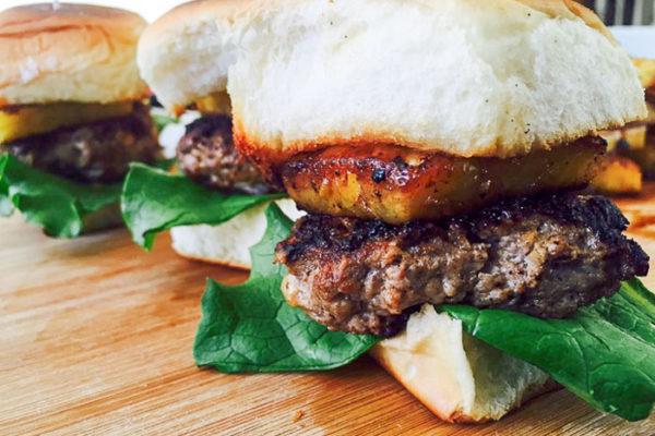 """""""Hawaiian"""" Turkey Burger Sliders"""
