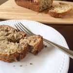 slice of spiced banana nut bread