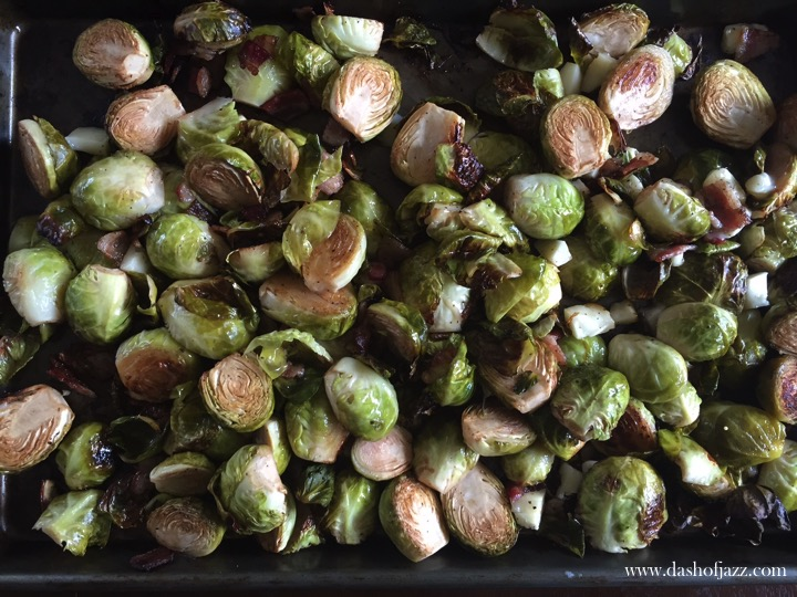 Balsamic Brussels Sprouts with Bacon and Brie