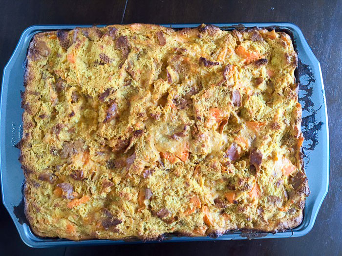 baked sweet potato bread pudding