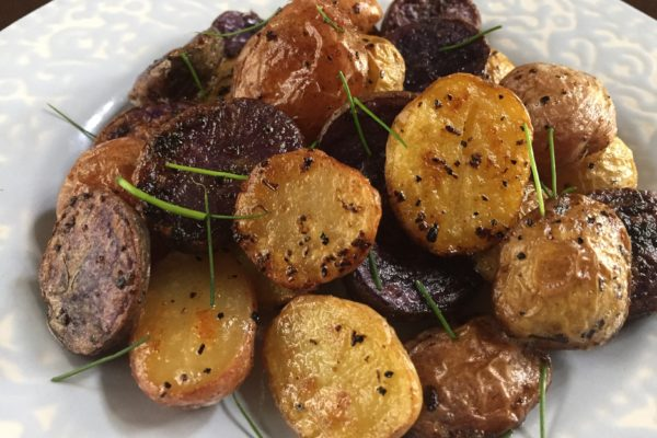 Summery Lemon Garlic Potatoes