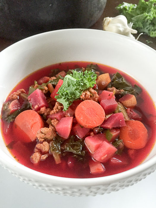 bowl of rainbow soup