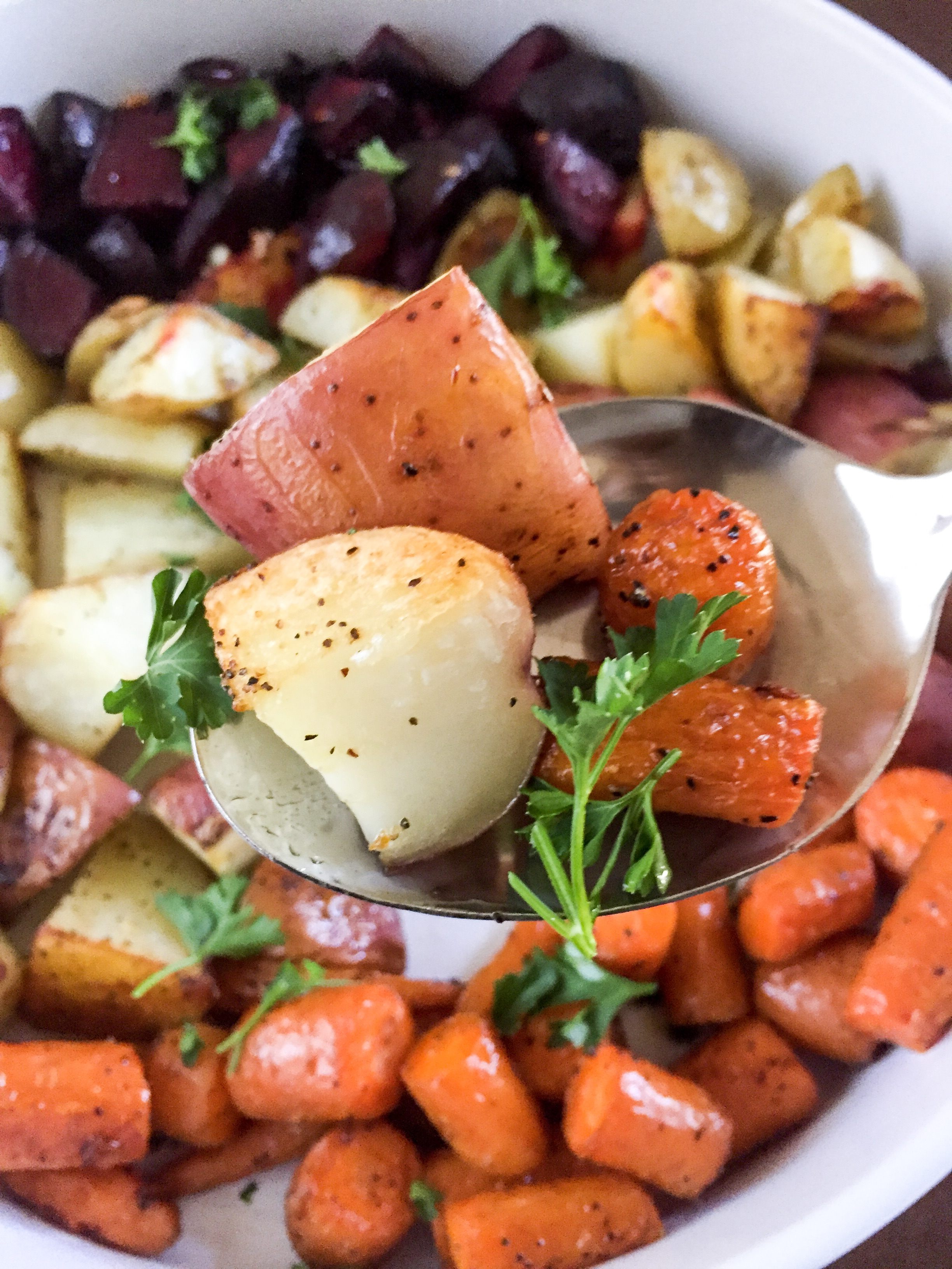 Easy Roasted Root Veggies | Dash of Jazz