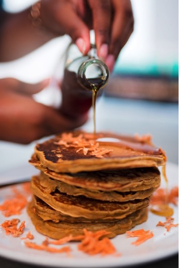 Fresh Sweet Potato Pancakes | Dash of Jazz