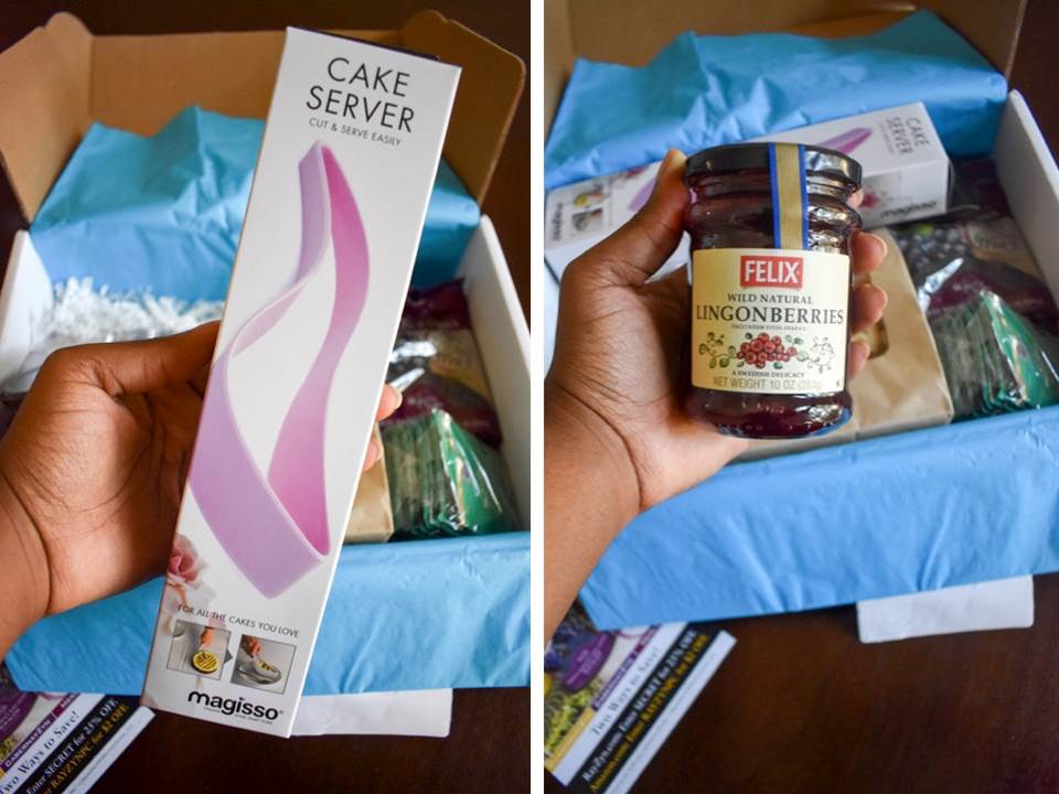 cake server and lingonberry jam from MSI foodie box