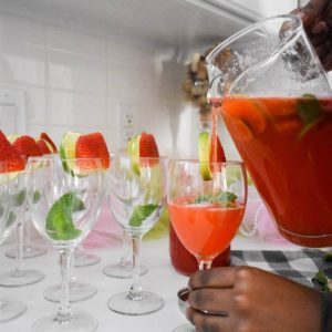 Sparkling Strawberry Mint Limeade