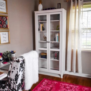 Colorful & Feminine Home Office Tour
