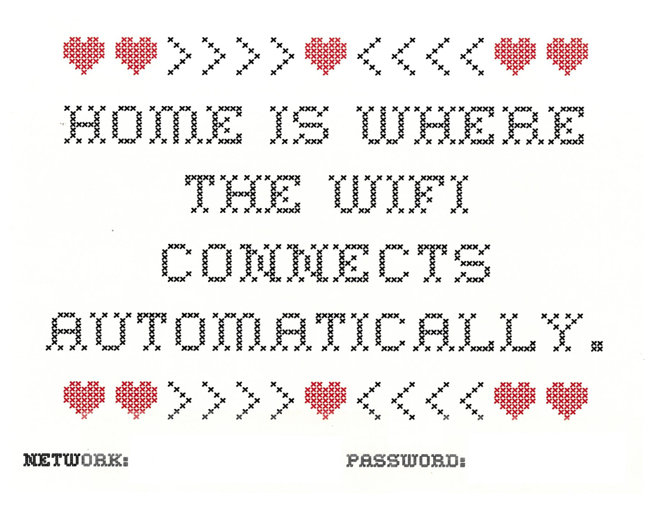 Free printable wifi sign from Dash of Jazz!