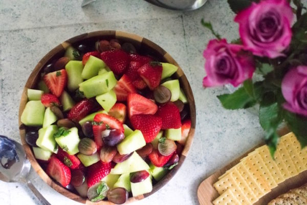 Fruit Salad with Sweet Orange Mint Dressing