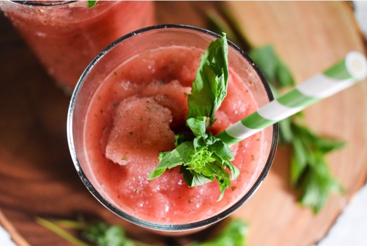 Frozen Watermelon Mint Lemonade