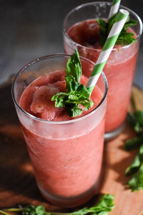 Frozen Watermelon Mint Lemonade is ready in under 5 minutes with just 5 ingredients! Dash of Jazz
