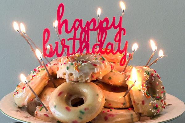 Funfetti Birthday Cake Donuts