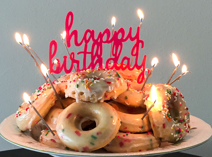 Surprising Funfetti Birthday Cake Donuts Dash Of Jazz Funny Birthday Cards Online Elaedamsfinfo