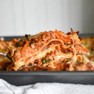My Mom's Lightened-Up Lasagna