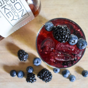 Bubbly Bourbon & Berries Cocktail