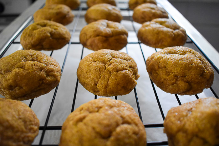 Chai-spiced pumpkin snickerdoodles are a remix of the classic cookie recipe. They're light, chewy, addictive, and perfect for Fall. Recipe by Dash of Jazz