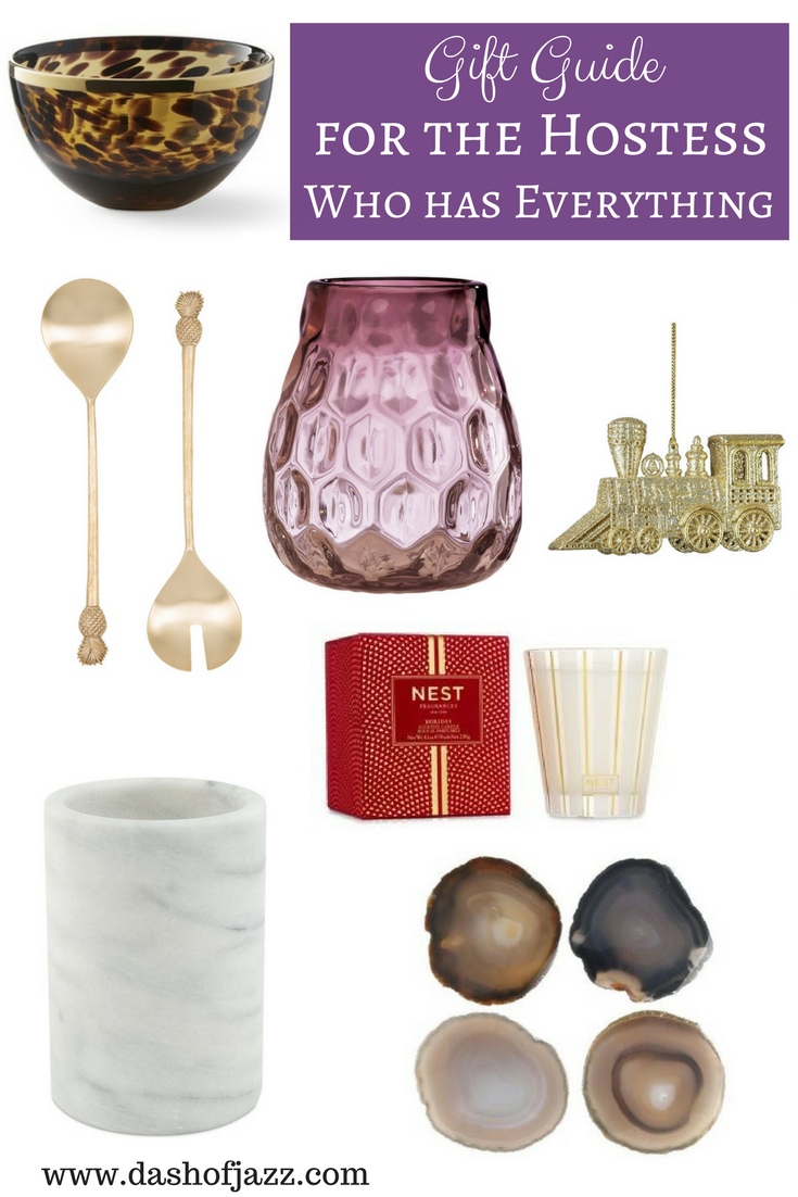 Gift guide for the hostess-with-the-mostest friend on your list who has everything. by Dash of Jazz