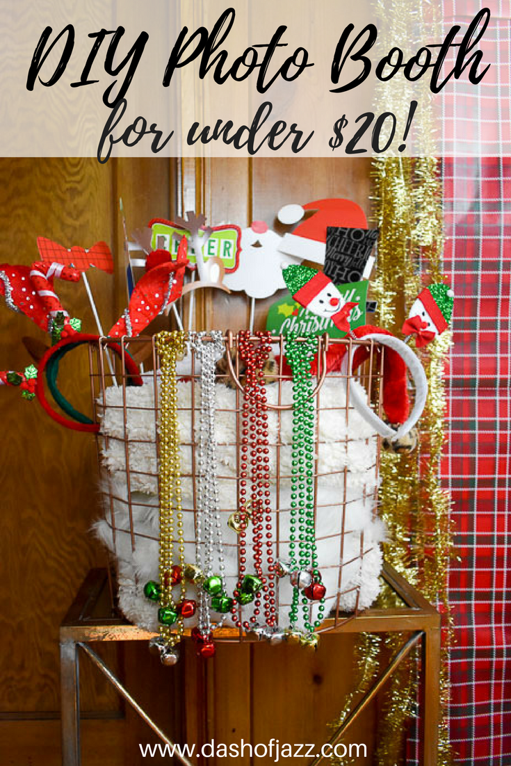 Learn how to make a festive DIY Photo Booth for under $20 for your next party with these instructions, tips, and sources from Dash of Jazz!