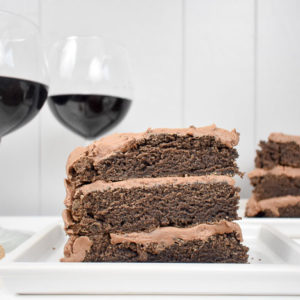 Red Wine Chocolate Cake for Two