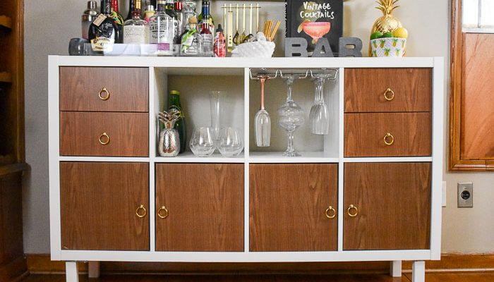 Ikea Kallax Home Bar Hacks Dash Of Jazz