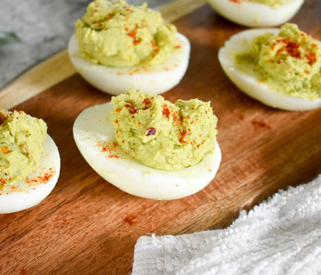 Spicy Avocado Deviled Eggs (Paleo, Gluten-Free)