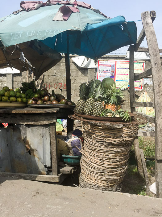 Fresh fruit stand in Lekki, Lagos, Nigeria