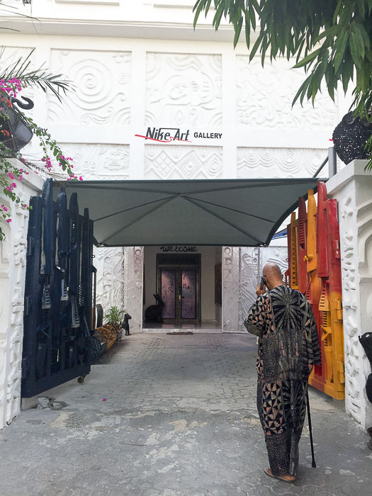 Entrance to Nike Art Gallery in Lekki, Lago, Nigeria