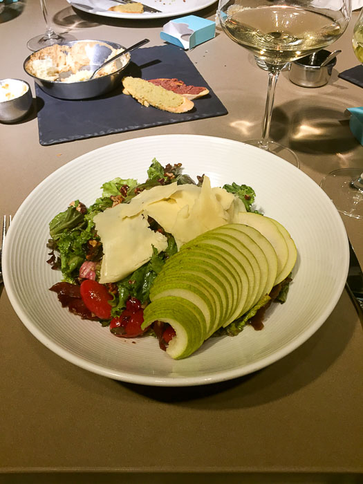 Mediterranean salad at Harry's Steakhouse, Cancun, Mexico