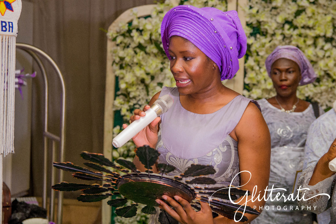 reading of formal marriage proposal at traditional Yoruba wedding ceremony
