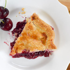 Lemon Ginger Cherry Pie