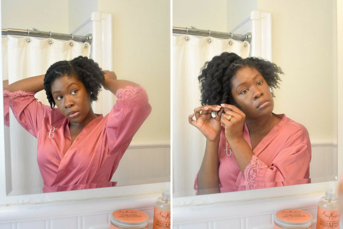 Dash of Jazz untwisting natural hair