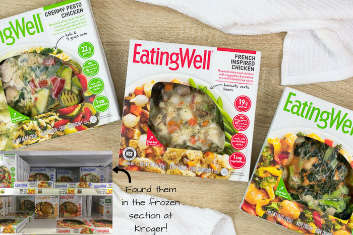 EatingWell Frozen Meals on table