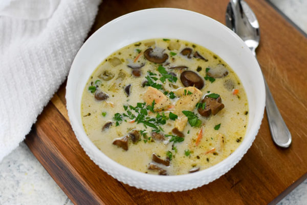 Creamy Chicken & Mushroom Soup (30-Minute Keto Recipe)