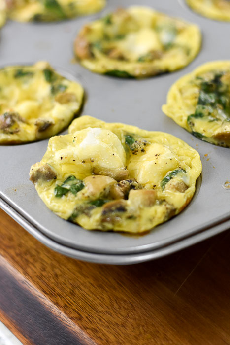 egg muffins baked in cupcake pan
