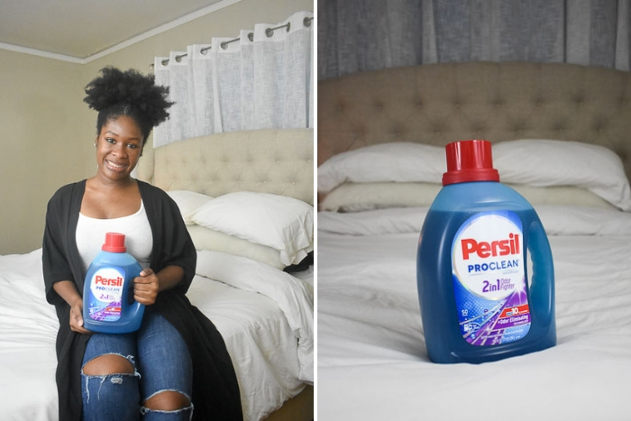 Dash of Jazz holding persil laundry detergent