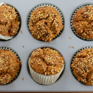 Jumbo Sweet Potato Gingerbread Muffins
