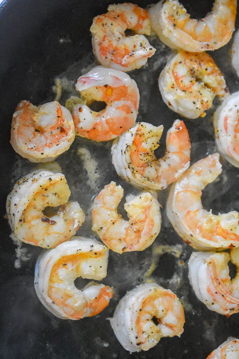 shrimp saute in pan