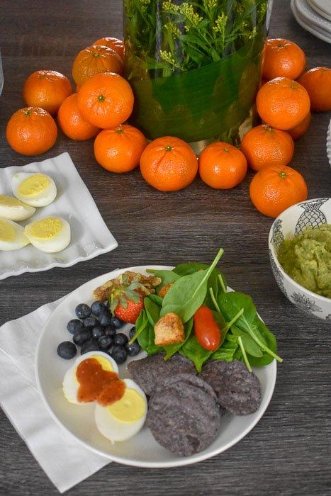 healthy brunch plate