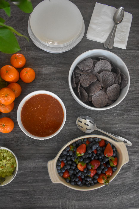 healthy brunch foods on table