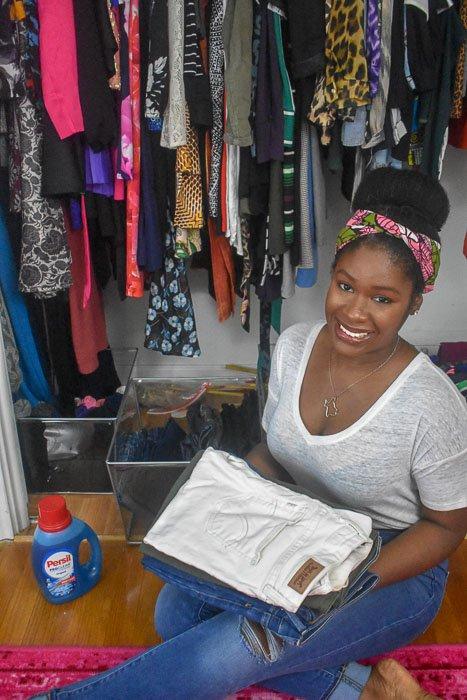 Dash of Jazz in clothes closet