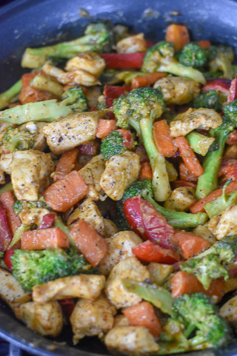 stir fry with special sauce