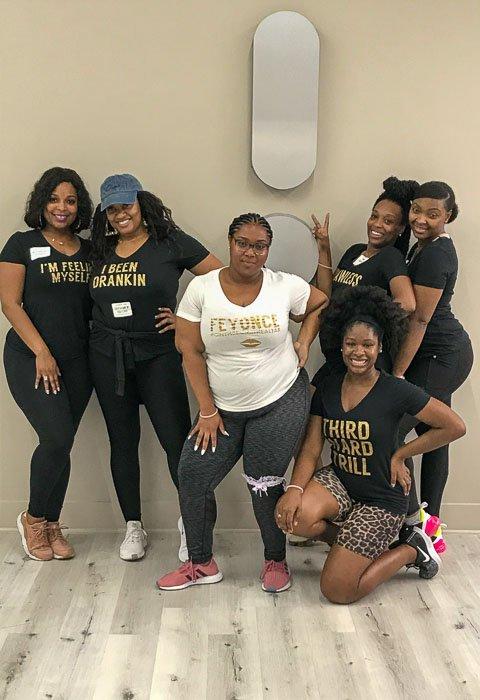 women after Inner Me Houston bachelorette dance party