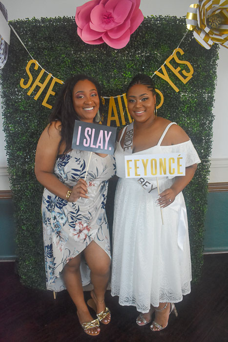 Beyonce themed bridal shower photo booth