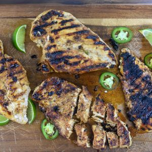 Grilled Honey Jalapeño Lime Chicken Breast