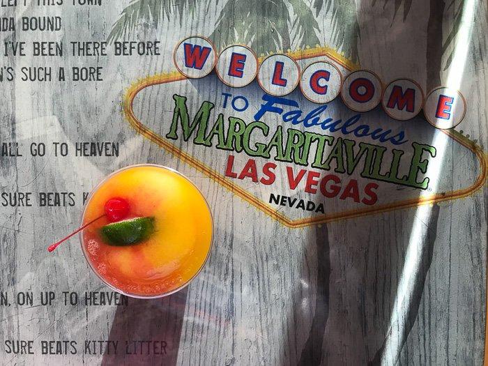 mango strawberry frozen margarita at margaritaville Las Vegas