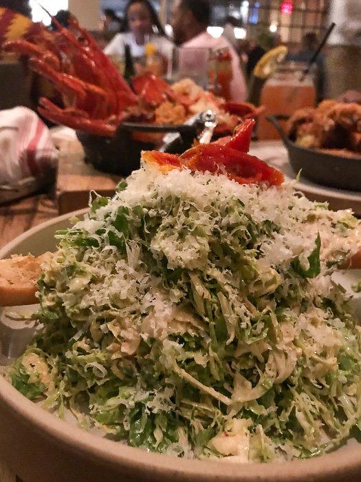 Brussels sprout Caesar salad at Yardbird Las Vegas