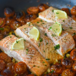 20-Minute Salmon Dinner (in One Pan!)