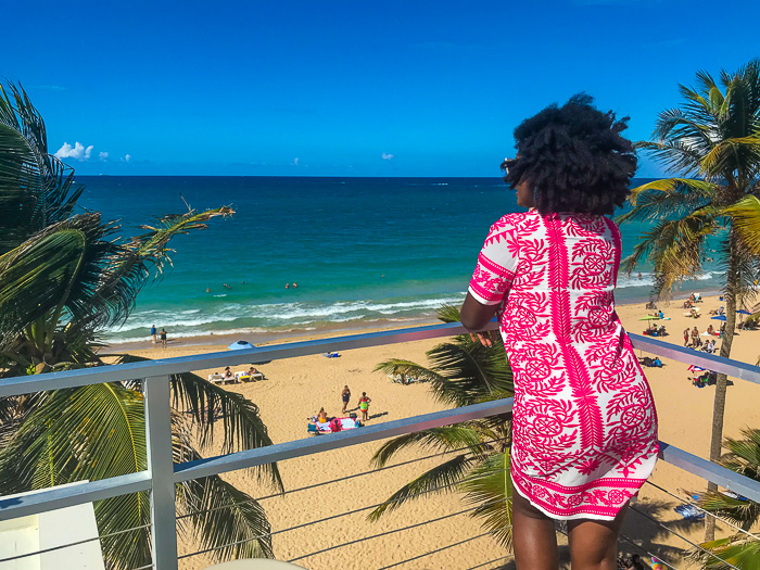 view from rooftop of Oceano Restaurant in San Juan, Puerto Rico