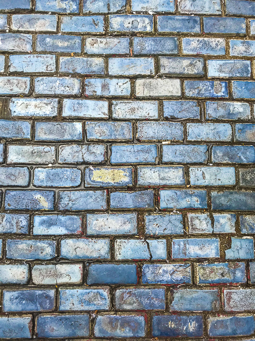 blue cobblestone in Old San Juan, Puerto Rico